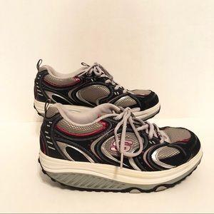 9ddf89dbaba5 Skechers Shape Ups Navy Pink Walking Toning Shoes